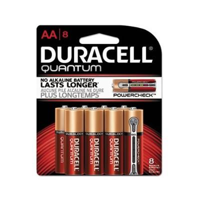 Duracell QU1500B8Z 1.5 Volt DC Multipurpose Alkaline AA Battery - 8/Pack
