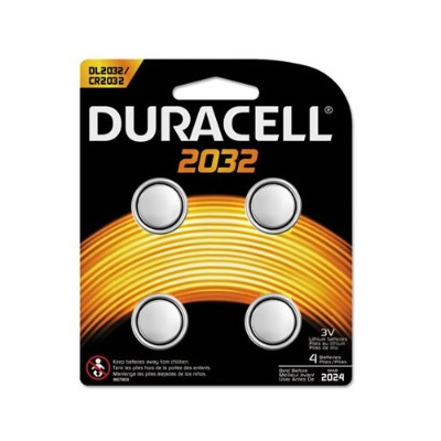 Duracell DL2032B4PK 3 Volt 4-pack Lithium Medical Battery