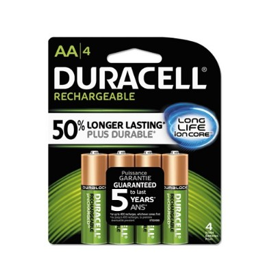 Duracell NLAA4BCD StayCharged NiMH Rechargeable AA Batteries - 4 / Pack