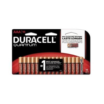 Duracell QU2400B16Z 1.5 Volt DC 2400 Series Quantum AAA Alkaline Batteries - 16/Pack