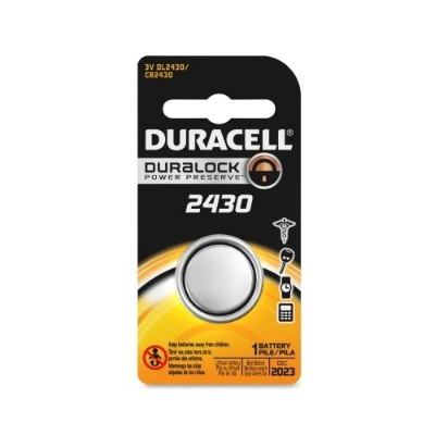 Duracell DL2430BPK 3 Volt DC Lithium General Purpose Battery - 1 Each