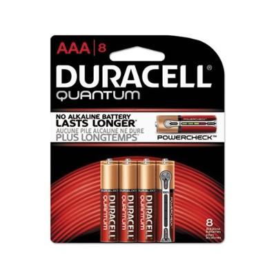 Duracell QU2400B8Z 1.5 Volt DC 2400 Series Quantum AAA Alkaline Batteries - 8/Pack