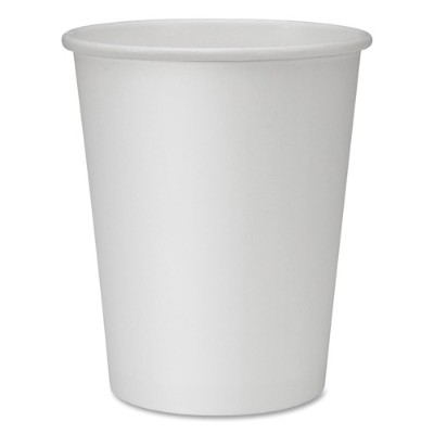 Genuine Joe 19045CT Lined Disposable Hot Cups - 8 fl oz - 1000 / Carton - White - Polyurethane - Hot Drink 40393730