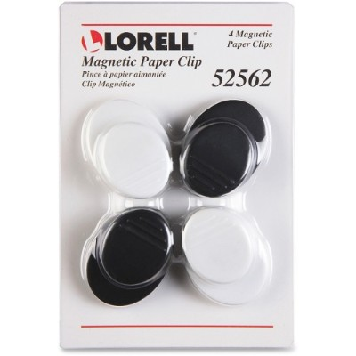 Lorell 52562 Plastic Cap Magnetic Paper Clips