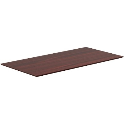 Lorell 59611 Electric Height-Adjustable Mahogany Knife Edge Tabletop 40399695