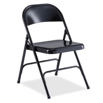 Lorell 62527 Folding Chair - Black 40399717