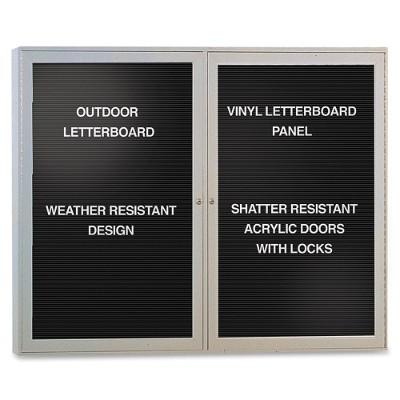Ghent PA23648BX-BK Enclosed Letterboard