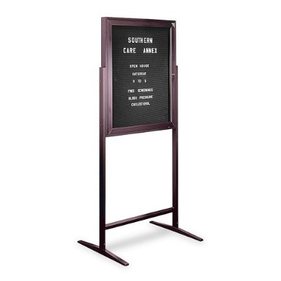 Ghent ZPB13630B-BK Sentry Free Standing Message Center