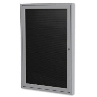 Ghent PA13624B-BK Aluminum Frame Indoor Enclosed Letterboard
