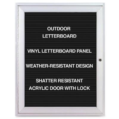 Ghent PA13624BX-BK Aluminum Frame Indoor Enclosed Letterboard
