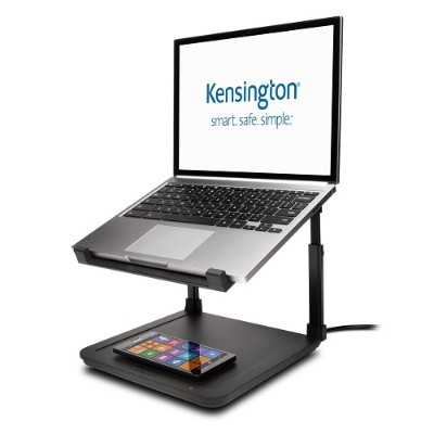Kensington 52784 SmartFit Laptop Riser with Wireless Phone Charging Pad