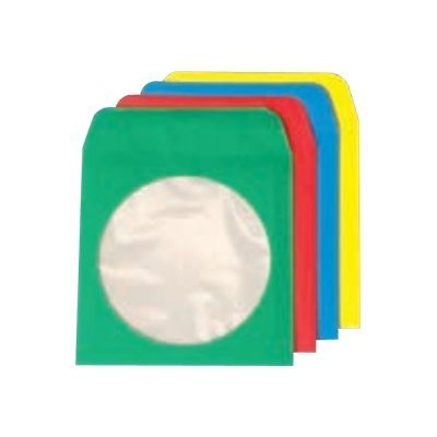 Quality Park 68905 CD/DVD envelope - capacity: 1 CD/DVD - assorted colors (pack of 50 )