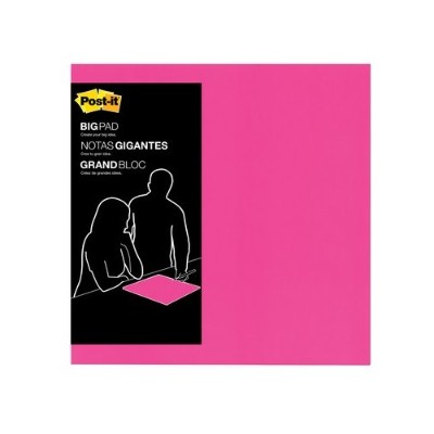 3M BP15P Big Pads Bright Pink 15 in x 15 in 30 sheets