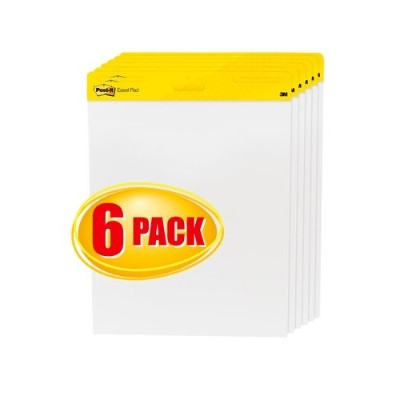 3M 559VAD-6PK Easel Pad White 25 in x 30 in 30sheet/pad  6 pads/case