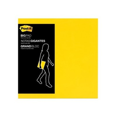 3M BP11Y Big Pads Bright Yellow 11 in x 11 in 30 sheets