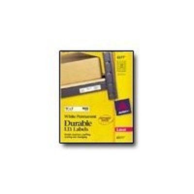 Avery Dennison 6577 Permanent Durable I.D. - Labels - permanent adhesive - white - 0.625 in x 3 in 1600 label(s) (50 sheet(s) x 32)