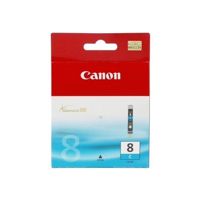 Canon CLI-8C CLI-8C - 1-pack - 1 - cyan - original - ink tank (printing consumables) - for PIXMA iP3500  iP4500  iP5300  MP510  MP520  MP610  MP960  MP970  MX70