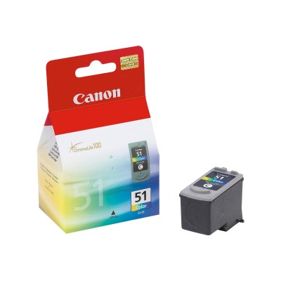 Canon CL-51 CL-51 - High Capacity - color (cyan  magenta  yellow) - original - ink tank - for PIXMA iP6210  iP6220  iP6310  MP150  MP160  MP170  MP180  MP450  M