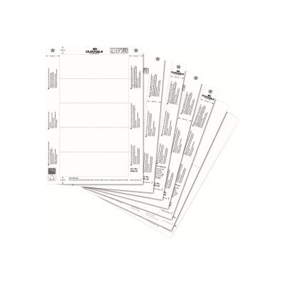 Durable 485202 White - 5.87 in x 5.87 in 20 card(s) (10 sheet(s) x 2) info sign cards - for P/N: 4802-23