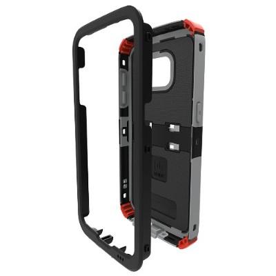 Trident Case KN-SSGSS7-BKRG0 Kraken AMS Case for Samsung Galaxy S7 - Black + Red + Grey