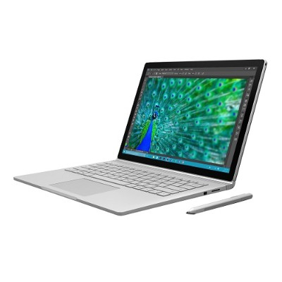 Microsoft FE9-00001 Surface Book Point of Distribution Bundle Intel Core i7-6600U Dual-Core 2.6GHz Tablet with detachable keyboard - 8GB RAM  256GB SSD  13.5 to