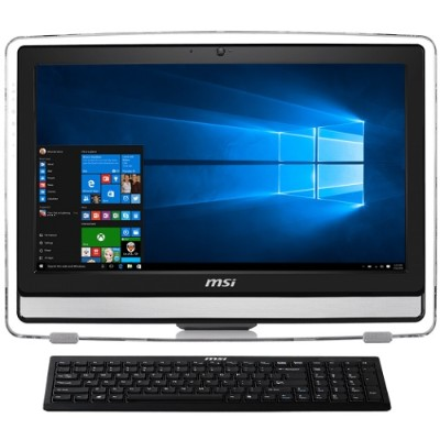 MSI P22ET4BW025US Pro 22ET 4BW-025US Intel Pentium Quad-Core N3700 1.60GHz All-in-One PC - 4GB RAM  1TB HDD  21.5 FHD+ LED Touchscreen  DVD SuperMulti  Gigabit