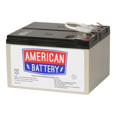 American Battery Company RBC109 ABC RBC109 - UPS battery - 2 x lead acid 9 Ah - for P/N: BN1250LCD  BR1200LCDI  BR1500LCDI  BX1300LCD  BX1500LCD
