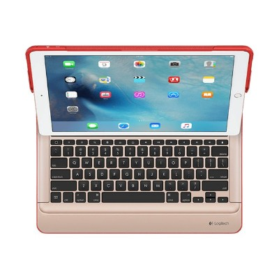 Logitech 920-007775 CREATE - Keyboard and folio case - Apple Smart connector - gold keyboard  red case - for Apple 12.9-inch iPad Pro