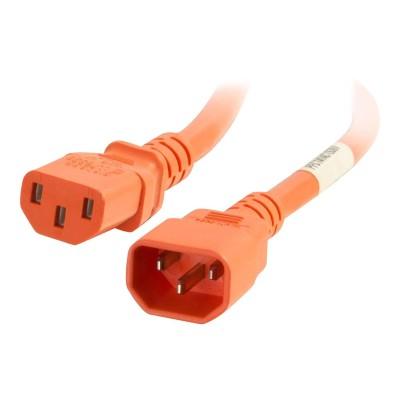 Cables To Go 17554 Power cable - IEC 60320 C14 to IEC 60320 C13 - 250 V - 15 A - 0.7 in - orange