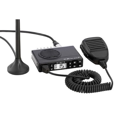Midland MXT100 MicroMOBILE Fixed-Mount GMRS 2-Way Radio with Magnetic Mount Antenna