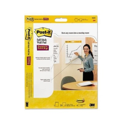 3M 566 Self-Stick Wall Pad White 20 in x 23 in 2/pk  20 sht/pad