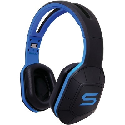 Soul by Ludacris 81970450 Combat+ Active Performance Over-Ear Headphones (Electric Blue)