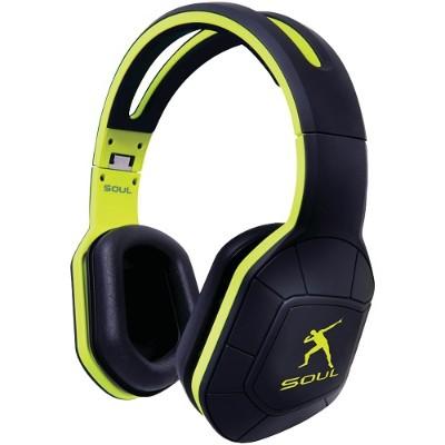 Soul by Ludacris 81971072 Combat+ Active Performance Over-Ear Headphones (Khaki Green/Black)