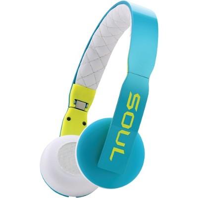 Soul by Ludacris 81971074 Loop On-Ear Headphones with Microphone (Blue/White)
