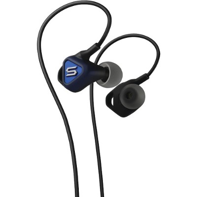 Soul by Ludacris 81970461 Pulse Reverse Fit In-Ear Headphones with Microphone (Blue)