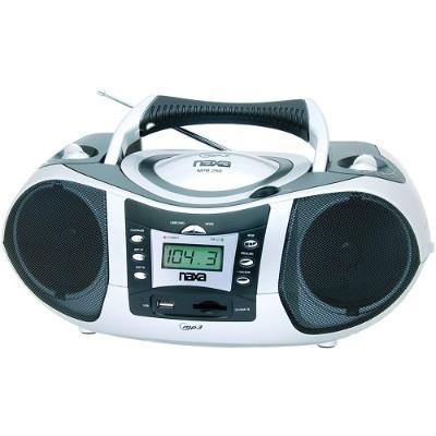 Naxa Electronics NPB-250A Portable MP3 & CD Player with AM/FM Radio