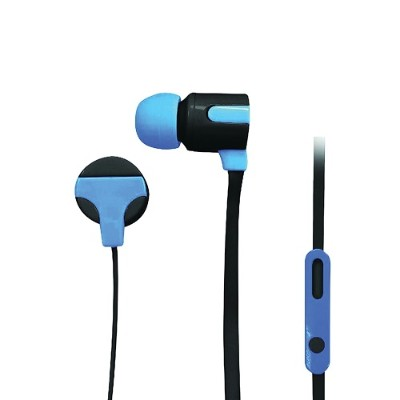 Naxa Electronics NE-939 BLUE ASTRA Isolation Stereo Earphones with Microphone - Blue