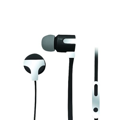 Naxa Electronics NE-939 SILVER ASTRA Isolation Stereo Earphones with Microphone - Silver