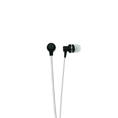 Naxa Electronics NE-940 BLACK METALLIX Isolation Stereo Earbuds - Black