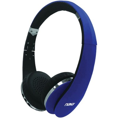 Naxa Electronics NE-941 BLUE NEURALE Bluetooth Wireless Stereo Headphones with Microphone - Blue