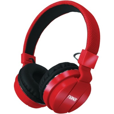Naxa Electronics NE-942 RED Bluetooth Wireless Stereo Headphones with Microphone - Red
