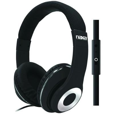 Naxa Electronics NE-943 BLACK BACKSPIN Pro Headphones with Microphone - Black