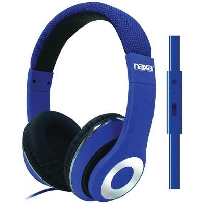 Naxa Electronics NE-943 BLUE BACKSPIN Pro Headphones with Microphone - Blue