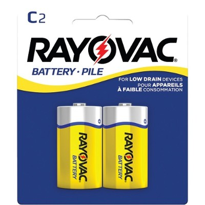 Rayovac 4C-2BF Heavy-Duty Zinc Carbon Batteries (C  2 pk)