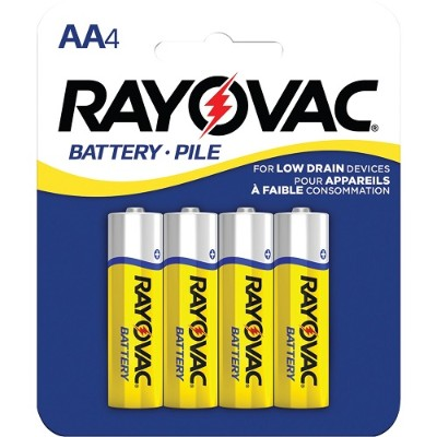 Rayovac 5AA-4F Heavy-Duty AA Batteries  4 pk