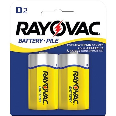 Rayovac 6D-2BF Heavy-Duty Carded D Batteries  2 pk