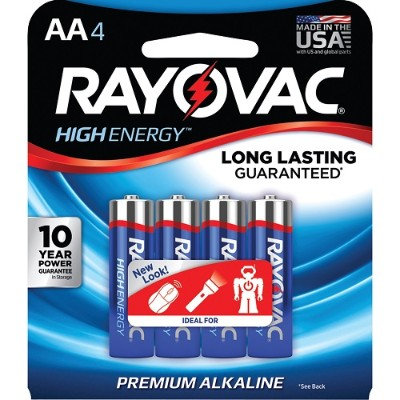 Rayovac 815-4J AA Alkaline Batteries (4 pk)