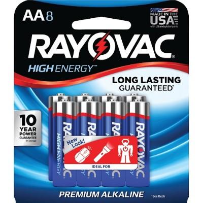 Rayovac 815-8J AA Alkaline Batteries (8 pk)