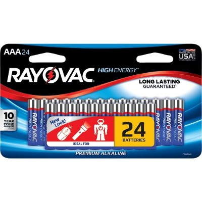 Rayovac 824-24LTJ AAA Alkaline Batteries (24 pk)
