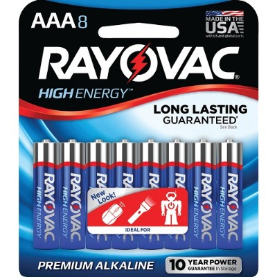 Rayovac 824-8J AAA Alkaline Batteries (8 pk)